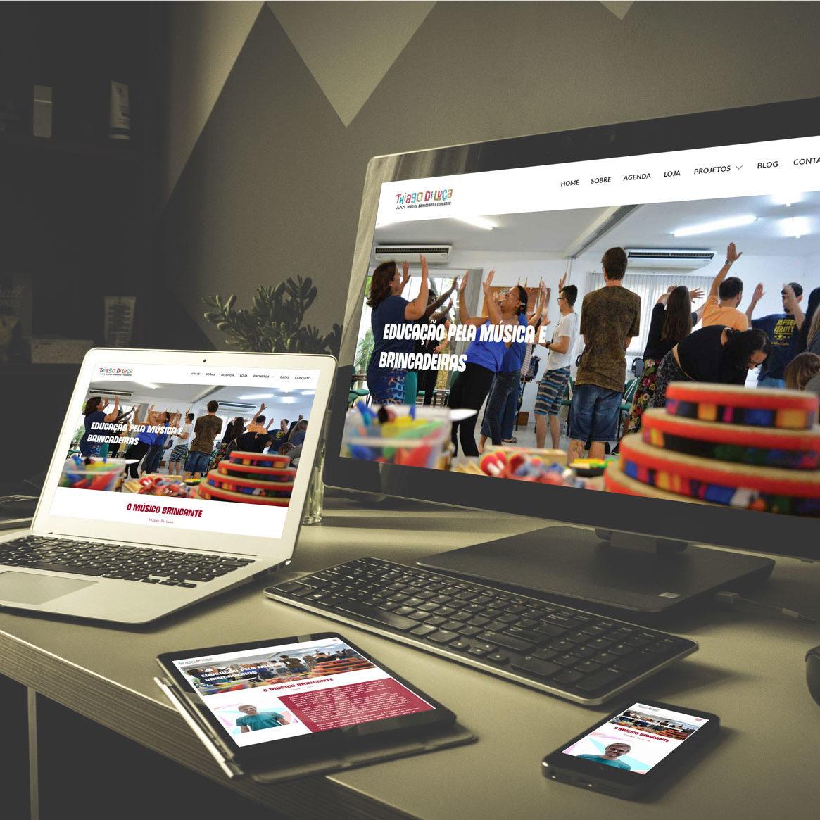 Quando a gente realiza mais um sonho, a felicidade do cliente também vira a nossa! O site do músico e educador Thiago Di Luca , nos deu o marco do 20º projeto de Desenvolvimento Web.